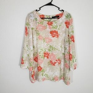 Rose & Olive Women Floral Blouse Size 2X